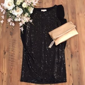 Gorgeous Michael Kors Black Sequin Dress